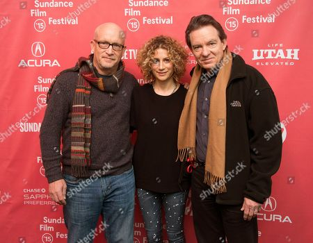 """Director Alex Gibney, left, Sara Bernstein, Senior Vice President of Programming for HBO Documentaries, and author/producer Lawrence Wright, right, attend the premiere of """"Going Clear: Scientology and the Prison of Belief"""" during the 2015 Sundance Film Festival in Park City, Utah. The documentary has been seen by more than 5.5 million people since its debut two weeks ago. It is likely to wind up being second only to a 2013 movie on Beyonce as the premium cable network's most-watched documentary of the past decade, HBO said"""