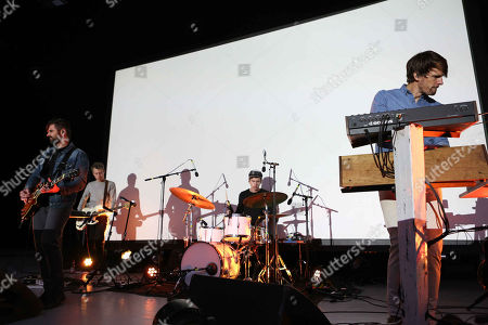 Stock Image of Tycho performs at Chastain Park Amphitheatre, in Atlanta