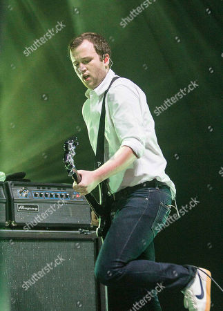 Chris Baio with Vampire Weekend performing at The Fox Theater, in Atlanta