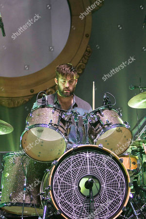 Chris Tomson with Vampire Weekend performing at The Fox Theater, in Atlanta