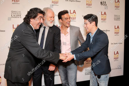 Alfred Molina, John Lithgow, Cheyenne Jackson and Eric Tabach attend the 2014 Los Angeles Film Festival screening of 'Love Is Strange' at the Bing Theatre at LACMA on in Los Angeles