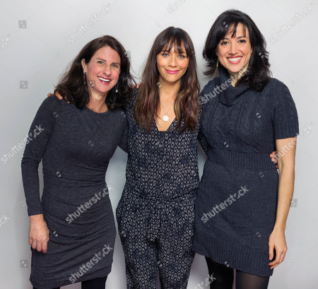 "In this Jan. 24, 2015 photo, Rashida Jones, center, and directors Jill Bauer, left, and Ronna Gradus pose for a portrait to promote the film, ""Hot Girls Wanted,"" at the Eddie Bauer Adventure House during the Sundance Film Festival, in Park City, Utah"