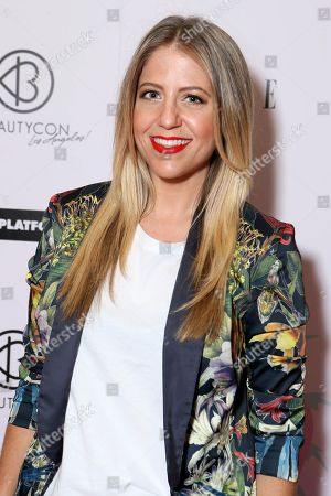 Lindsay Albanese arrives at BeautyCon Los Angeles 2014 in Partnership with Elle at LA Mart, in Los Angeles