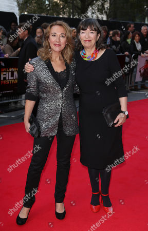 Actresses Dorothy Atkinson, left and Marion Bailey arrive for the London Film Festival premiere of Mr Turner at the Odeon West End in central London