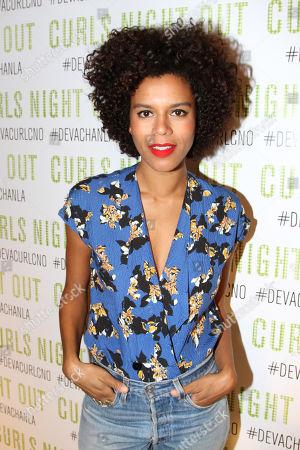 "LA Beauty Blogger Grasie Mercedes seen at DevaCurl's Celebration of ""Curls Night Out"" at Devachan Salon, in Los Angeles, CA"