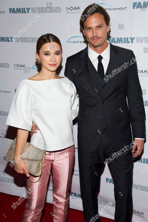 "Olesya Rulin and Andrew Gray McDonnell attend the premiere of ""Family Weekend"" on in New York"