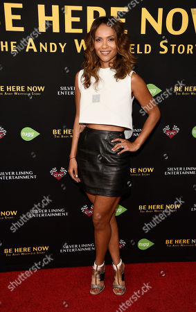 "Actress Lesley Ann Brandt poses at the premiere of the film ""Be Here Now (The Andy Whitfield Story),"" at the UTA Theater, in Beverly Hills, Calif. Whitfield died of non-Hodgkin lymphoma in 2011"