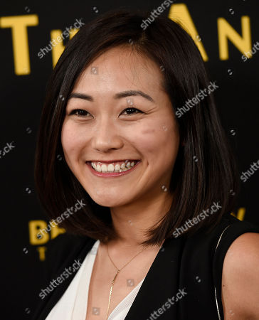 "Actress Karen Fukuhara poses at the premiere of the film ""Be Here Now (The Andy Whitfield Story),"" at the UTA Theater, in Beverly Hills, Calif"