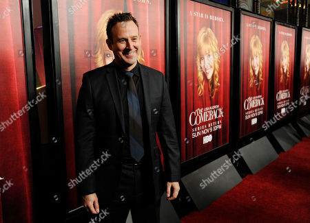 """Robert Bagnell, a cast member in """"The Comeback,"""" poses at the premiere of the new season of the show at the El Capitan Theatre, in Los Angeles"""