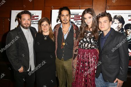 "Stock Image of Robert Pulcini, from left, Shari Springer Berman, Avan Jogia, Hailee Steinfeld and Emile Hirsch arrive at the Special Screening of ""Ten Thousand Saints"" at PicNik Restaurant, in Los Angeles"