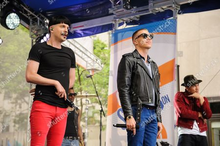 """Stock Photo of Eric Nally, left, and Macklemore appear on NBC's """"Today"""" show at Rockefeller Plaza, in New York"""