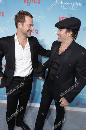 "David Sutcliffe and Scott Patterson seen at Netflix's ""Gilmore Girls: A Year in the Life"" Premiere, in Los Angeles, CA"