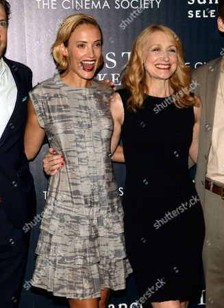 """Stock Image of Actresses Alexia Rasmussen, left, and Patricia Clarkson, right, attend a screening of """"Last Weekend"""" on in New York"""