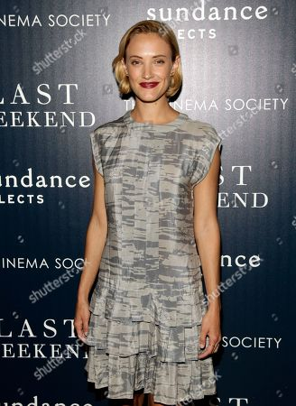 """Actress Alexia Rasmussen attends a screening of """"Last Weekend"""" on in New York"""