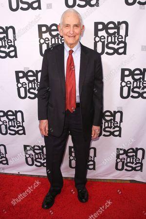 Daniel Ellsberg arrives at PEN Center USA's 25th Annual Literary Awards Festival at the Beverly Wilshire Hotel, in Beverly Hills, Calif