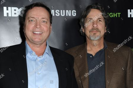 Bobby Farrelly, left, and Peter Farrelly arrive at Project Greenlight Season Four Winner Revealed, in Los Angeles