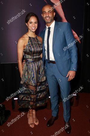 Stock Photo of Misty Copeland and Olu Evans seen at the NYC Premiere of Starz's original limited series Flesh and Bone at the NYU Skirball Center for the Performing Arts, in NYC