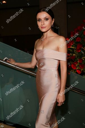 Irina Dvorovenko seen at the NYC Premiere of Starz's original limited series Flesh and Bone at the NYU Skirball Center for the Performing Arts, in NYC