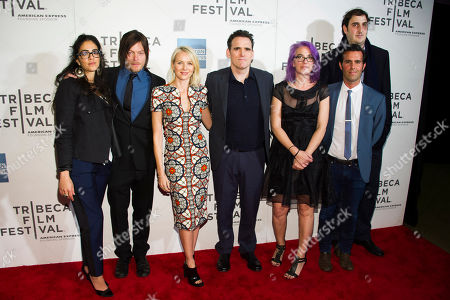 "Stock Picture of Andrea Roa, left, Norman Reedus, Naomi Watts, Matt Dillon, Laurie Collyer, Charlie Corwin and Ariel Elia attend the premiere of ""Sunlight Jr."" during the 2013 Tribeca Film Festival on in New York"