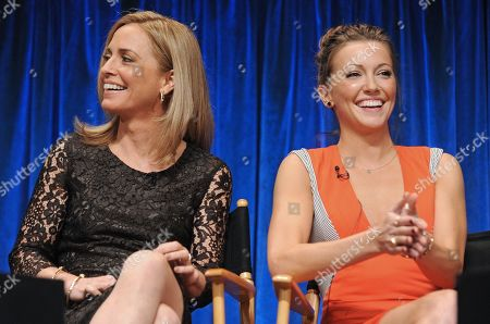 Photo of Susanna Thompson, left, and Katie Cassidy courtesy of Samsung Galaxy, taken during the Paley Center for Media's PaleyFest, honoring Arrow at the Saban Theatre, in Los Angeles, California