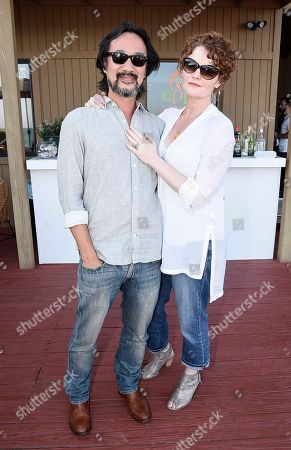 Actress Rebecca Wisocky, right, and her husband Lap Chi Chu at the Kia Malibu Beach House Presented by Teva on in Malibu, Calif. Wisocky later live tweeted an episode of her television show Devious Maids