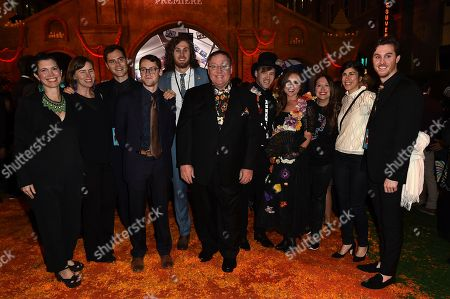 "Stock Picture of John Lasseter, center, arrives with family and friends at the Los Angeles premiere of ""Coco"" at the El Capitan Theatre, in Los Angeles"