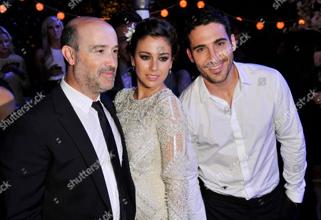 """Stock Picture of I'm So Excited!"""" cast members, left to right, Javier Camara, Blanca Suarez and Miguel Silvestre pose together at the after party of the 2013 Los Angeles Film Festival's premiere of the film at the Regal Cinemas at LA LIVE on"""