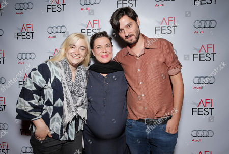 Dagmar Weaver-Madsen, Jana Diaz Juhl and Carlos Marques-Marcet attend the Young Hollywood Roundtable at 2014 AFI Fest on in Los Angeles