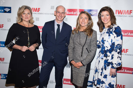 Cynthia McFadden, from left, James Goldston, Deborah Turness and Norah O'Donnell attend the International Women's Media Foundation's 26th Annual Courage in Journalism Awards at Cipriani's 42nd Street, in New York