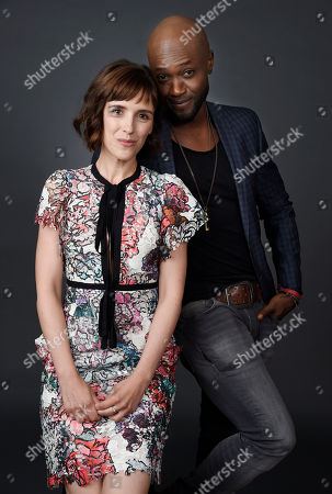 """Clementine Poidatz, left, and Sammi Rotibi, cast members in the National Geographic Channel series """"MARS,"""" pose together for a portrait during the 2016 Television Critics Association Summer Press Tour at the Beverly Hilton, in Beverly Hills, Calif"""