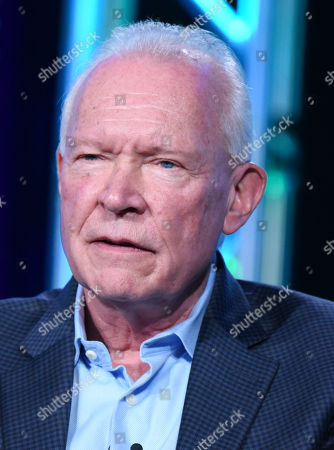 "Terry Brooks speaks during the ""The Shannara Chronicles"" panel at the MTV 2016 Winter TCA, in Pasadena, Calif"