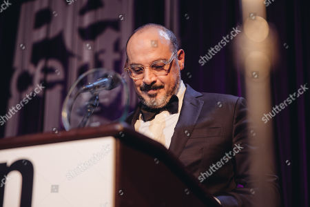 "Eddy Moretti accepts the ""Award of Honor"" for VICE at The 24th Annual PEN Center USA Literary Awards Festival at The Beverly Wilshire Hotel, in Beverly Hills, Calif"