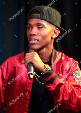 R&B singer B. Smyth visits radio station WUSL Power 99 FM iHeartradio Performance Theater, in Philadelphia