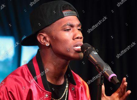 Stock Photo of R&B singer B. Smyth visits radio station WUSL Power 99 FM iHeartradio Performance Theater, in Philadelphia