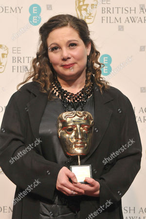 Tessa Ross, winner of Outstanding Contribution to Cinema backstage at the BAFTA Film Awards at the Royal Opera House, in London