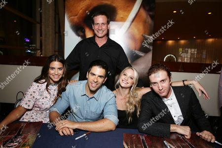 Lorenza Izzo, Director Eli Roth, BH Tilt's John Hegeman, Kirby Bliss Blanton and Daryl Sabara seen at BH Tilt 'The Green Inferno' Special Screening, in Los Angeles, CA