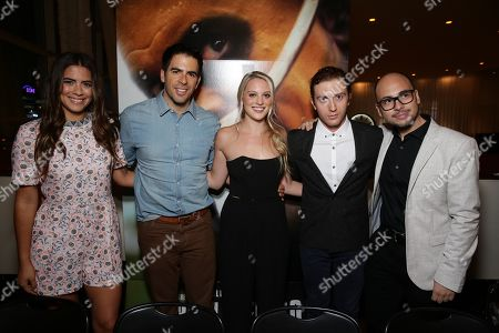 Lorenza Izzo, Director Eli Roth, Kirby Bliss Blanton, Daryl Sabara and Producer Nicolas Lopez seen at BH Tilt 'The Green Inferno' Special Screening, in Los Angeles, CA