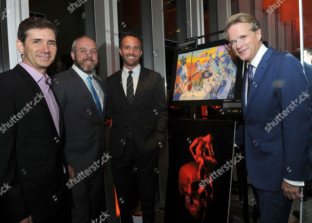 "Chuck Rose, creator, writer, executive producer; Brendan Kelly, executive producer; Eric Berger, EVP, Digital Networks, Sony Pictures Television and General Manager, Crackle; and actor Cary Elwes, left to right, attend Crackle's ""The Art of More"" season two premiere, at the Museum of Arts and Design in New York. Sony's streaming network, Crackle, will launch season two of its first original scripted drama, ""The Art of More,"" on November 16th"