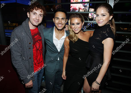 """Stock Picture of From left, Daryl Sabara, Carlos Pena, Alexa Vega, and Makenzie Vega attend the after party for the premiere of """"Machete Kills"""" at the Regal Cinemas LA Live on in Los Angeles"""