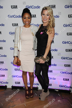"Tanisha Long, on left, and Jessimae Peluso appear at the MTV ""Girl Code"" party to celebrate the launch of the ""GYT""- Get Yourself Tested- campaign on at Malt N Mash in New York City"