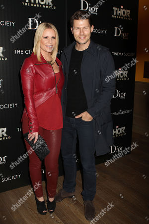 """Carrie Keagan and Jason Dundas attend the screening of """"Thor: The Dark World"""" hosted by the the Cinema Society & Dior Beauty at the Crosby Hotel on in New York"""