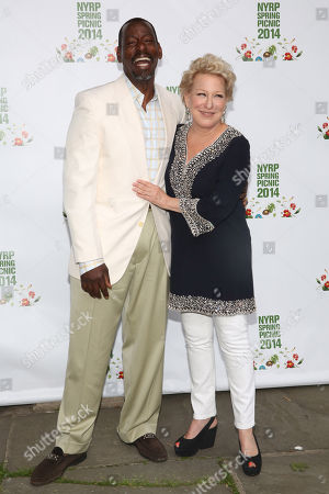 Ron Finley, left, and Bette Midler attend the New York Restoration Project's 13th Annual Spring Picnic at Riverside Park, in New York
