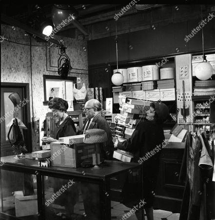 Joan Paton (as Miss Pemberton), Arthur Lowe (as Leonard Swindley) and Eileen Derbyshire (as Emily Nugent)