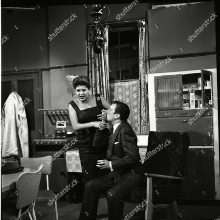 Pat Phoenix (as Elsie Tanner) and Donald Morley (as Walter Fletcher)