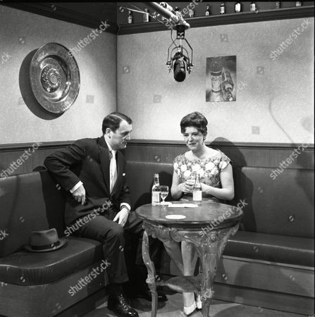 Donald Morley (as Walter Fletcher) and Pat Phoenix (as Elsie Tanner)
