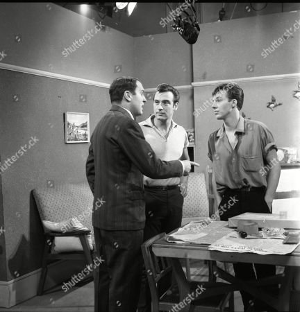 Donald Morley (as Walter Fletcher), Ernst Walder (as Ivan Cheveski) and Philip Lowrie (as Dennis Tanner)