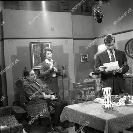 Frank Pemberton (as Frank Barlow), Noel Dyson (as Ida Barlow) and William Roache (as Ken Barlow)