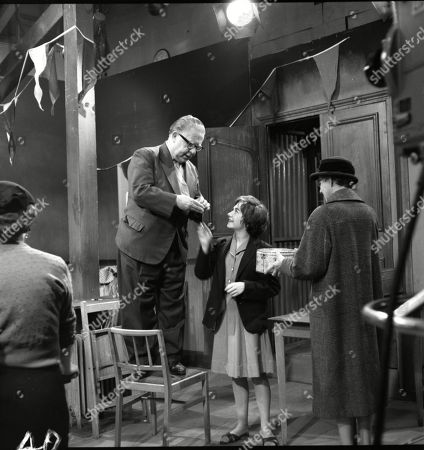 Stock Picture of Jack Howarth (as Albert Tatlock), Jennifer Moss (as Lucille Hewitt) and Norah Hammond (as Nancy Leathers)