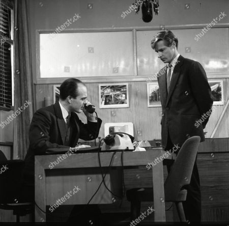 Stock Picture of Barry Letts (as Mr Wentworth) and William Roache (as Ken Barlow)
