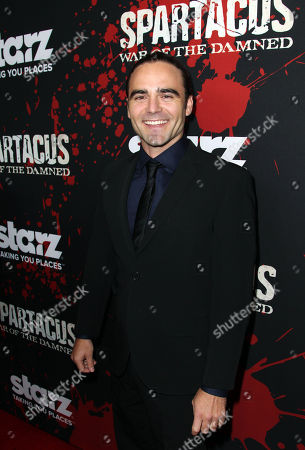 "Dustin Clare arrives at the premiere of ""Spartacus: War of the Damned"" on in Los Angeles. ""Spartacus: War of the Damned"" premieres Friday, Jan. 25 at 9PM on STARZ"